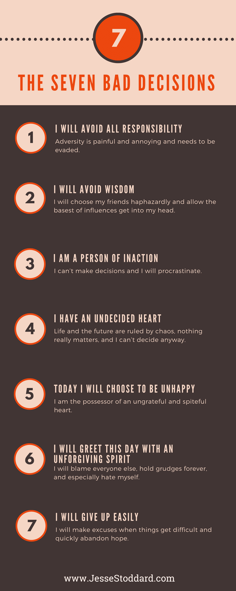 The Seven BAD Decisions Info-Graphic